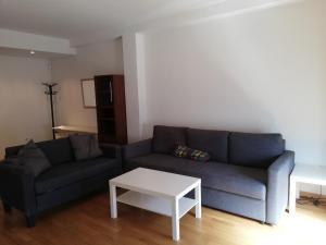 A seating area at Atocha Apartments