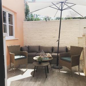 A seating area at Vacation House Cavtat