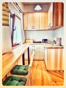 O bucătărie sau chicinetă la Eco Travel Downtown