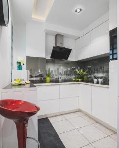 Virtuvė arba virtuvėlė apgyvendinimo įstaigoje P&O Serviced Apartments FABRYCZNA
