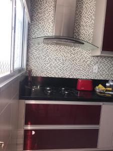 Una cocina o kitchenette en Frente mar