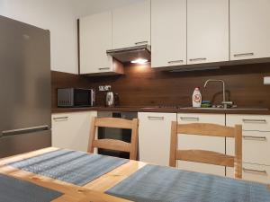 Η κουζίνα ή μικρή κουζίνα στο Green Park Apartments