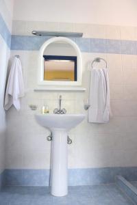 Een badkamer bij Panorama Apartments
