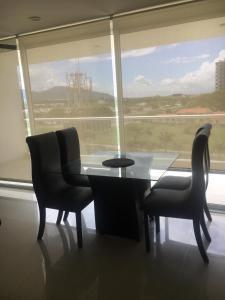 A seating area at Edificio Antares