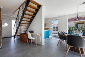 Ein Sitzbereich in der Unterkunft Ferienhaus Rügen-Relax