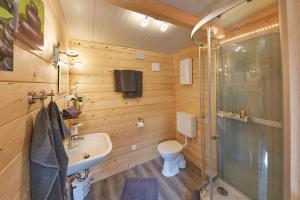 Kúpeľňa v ubytovaní Flüzerhütte