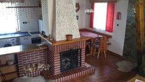 Kuchyň nebo kuchyňský kout v ubytování Prázdninový dům Žírec