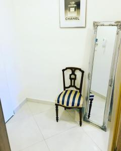 A seating area at Apartement Blanc de luxe