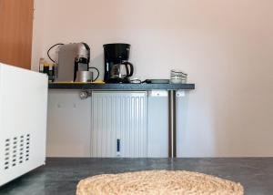 Küche/Küchenzeile in der Unterkunft Apartment am Bahnhof