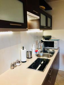 A kitchen or kitchenette at Apartament Granat