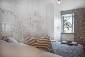 Postel nebo postele na pokoji v ubytování Apartment Just be