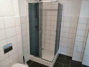 Ein Badezimmer in der Unterkunft Ferienwohnungen Poppelvitz