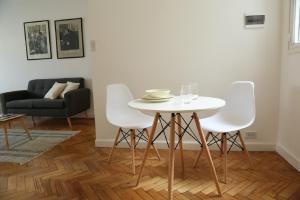 Área de jantar no apartamento