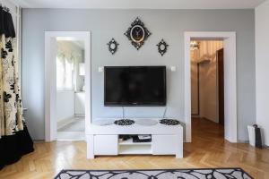 Telewizja i/lub zestaw kina domowego w obiekcie apartament Poznan