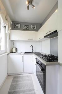 Kuchnia lub aneks kuchenny w obiekcie apartament Poznan