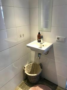 Een badkamer bij Strandzand