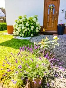 Ein Garten an der Unterkunft Ferienwohnung Ilona - [#120549]