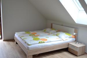 Postel nebo postele na pokoji v ubytování Apartmán Lipno u vody a cyklostezky