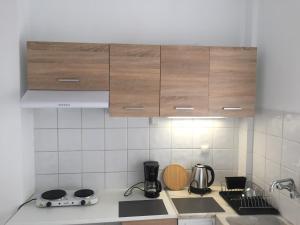 Кухня или мини-кухня в Athens Smart Rooms 1