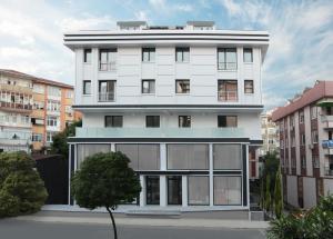 Byggnaden som lägenhetshotellet ligger i