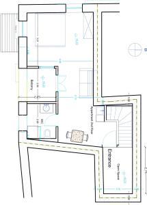 The floor plan of Novecento Studios