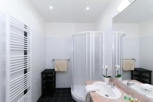 Koupelna v ubytování Vinohrady Belgicka Apartments