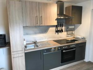 Küche/Küchenzeile in der Unterkunft Ferienwohnung Frankenwald
