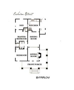 The floor plan of EREHWON RETREAT Private ELEGANT LIVING