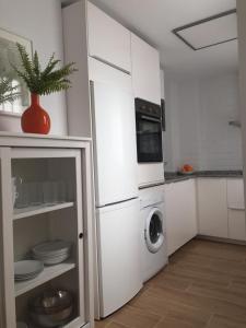 A kitchen or kitchenette at Triana con encanto