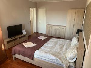 Vuode tai vuoteita majoituspaikassa Rocca Apartments
