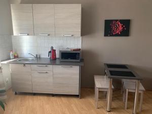 Majoituspaikan Rocca Apartments keittiö tai keittotila