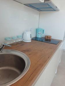 Kuchyň nebo kuchyňský kout v ubytování Apartments Lidija