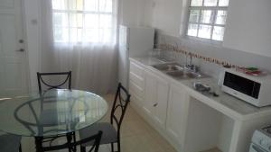 A kitchen or kitchenette at Notre Dame Bay Apartments 3