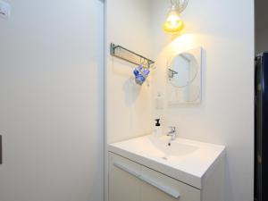 A bathroom at T House