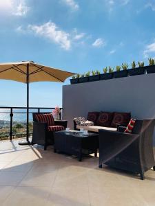 A balcony or terrace at VILLA FLORA, Costa Adeje
