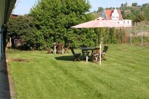 A garden outside Weingut Haus Steinbach