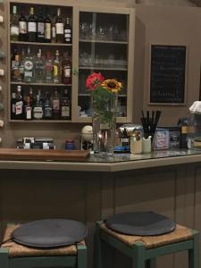 The lounge or bar area at Theodosia Studios