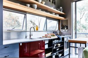 A kitchen or kitchenette at Riversdale Retreat