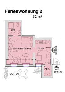 The floor plan of Apartmenthaus Villa Lindenbühl