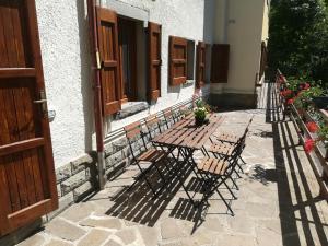 A porch or other outdoor area at Appartamento Lo Slittone