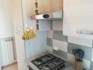 A kitchen or kitchenette at Appartamento Lo Slittone