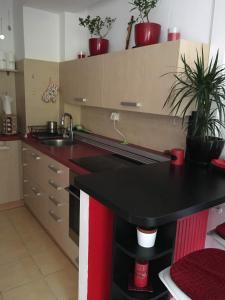 Kuchyňa alebo kuchynka v ubytovaní 2 izbový byt
