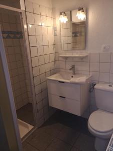 Salle de bains dans l'établissement Gîte Maison des Vignerons
