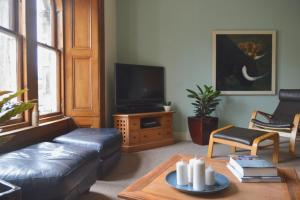 A television and/or entertainment center at John Buchan House, Peebles