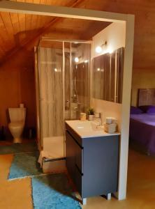 A bathroom at Casa Magnólia