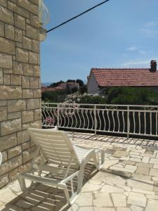 A balcony or terrace at Central Studio Apartments & Dormitory Rooms