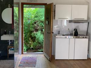Küche/Küchenzeile in der Unterkunft Ofenhaus