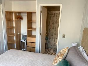 Cama o camas de una habitación en Stay Santiago Lastarria Bellas Artes
