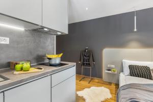 A kitchen or kitchenette at Apartments InCenter