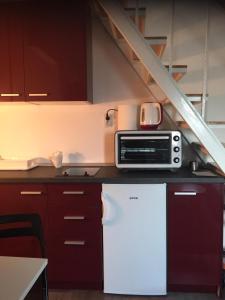Kuhinja oz. manjša kuhinja v nastanitvi Apartman u bloku